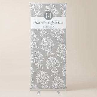 Custom Wedding Photo Backdrop Bride Groom Monogram Retractable Banner