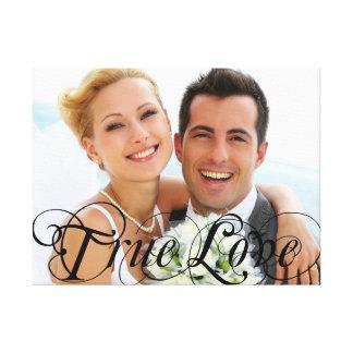Custom Wedding Photo Keepsake True Love Canvas Canvas Print