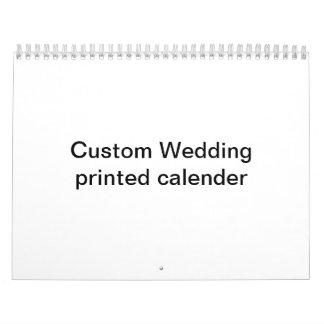 Custom Wedding  Printed Calendar