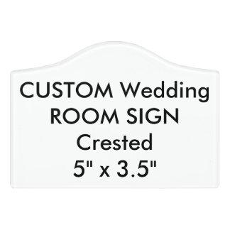 """Custom Wedding Room Sign Plaque Crested 5"""" x 3.5"""" Door Sign"""