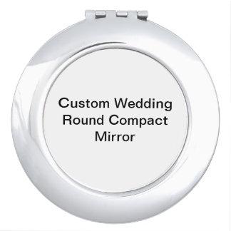 Custom Wedding Round Compact Mirror