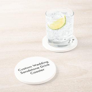 Custom Wedding Sandstone Drink  Coaster