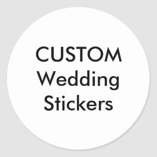 "Custom Wedding Stickers 1.5"" ROUND MATTE (20 pk.)"