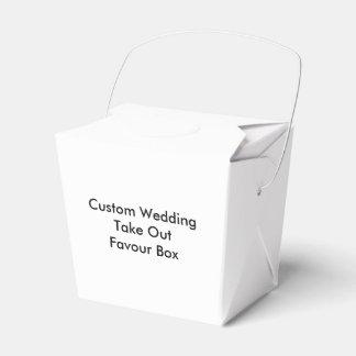 Custom Wedding Take Out Favour Box