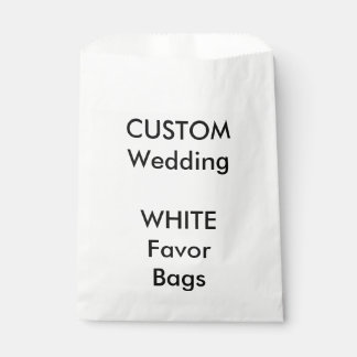 Custom WHITE Paper Favor Bag Favour Bags