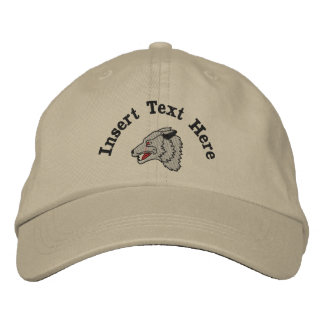 Custom Wolf Embroidered Hat