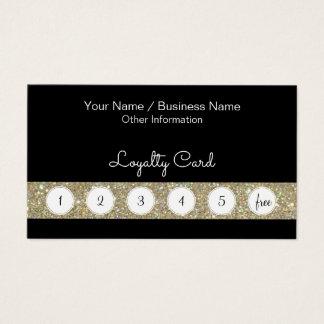Customer Loyalty Punch Card With Glitter Bar
