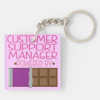 Customer Support Manager Chocolate Gift for Her Key Chain