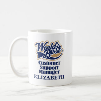 Customer Support Manager Personalized Mug Gift
