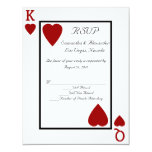 CustomInvites Playing Card King/Queen RSVP Invitation