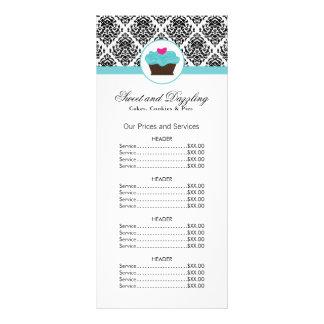 Customisable Bakery Price List Rack Card
