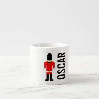 Customisable British Soldier Espresso Cup