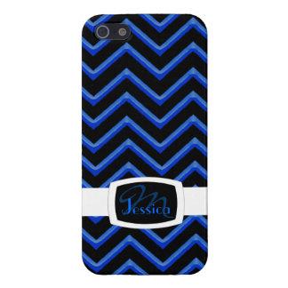 Customisable Chevron Neon/Blue iPhone 5/5S Case