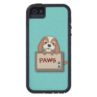 Customisable Cute Puppy Dog with Signboard Case For iPhone 5