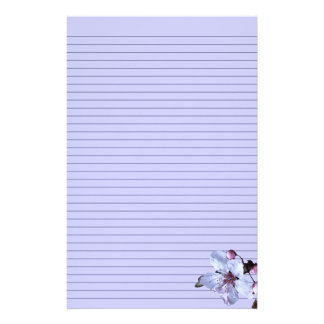 Customisable Delicate Flower Stationery - lined