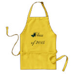 Customisable Graduation - Blue and Gold Butterfly Standard Apron