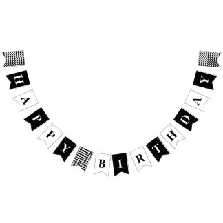 Customisable Happy Birthday Party Banner