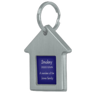Customisable ID Pet Tag for Cats: Blue