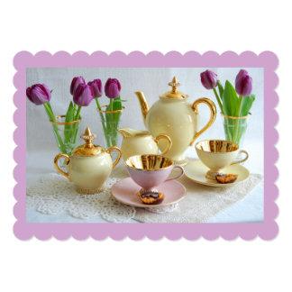 Customisable Lavender Afternoon Tea Invitation