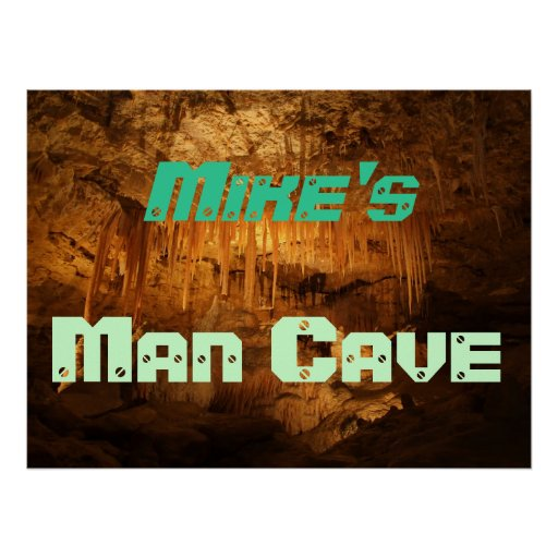 Man Cave Gifts Nz : Customisable man cave poster zazzle
