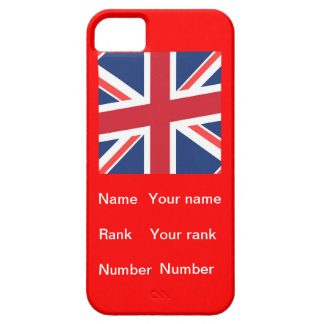 Customisable name, Rank and number iPhone 5 Cases