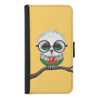 Customisable Nerdy Welsh Baby Owl Chic Samsung Galaxy S5 Wallet Case