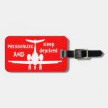 Customisable Red Aeroplane Luggage Identity Tag