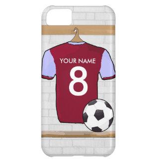 Customisable Soccer Shirt (claretblue) iPhone 5C Case