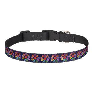 Customisable Sugar Skull Flowers Pet Collar