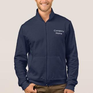 Customisable Text, Men's Fleece Zip Jogger Jacket