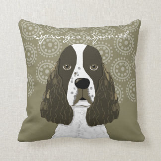 Customise English Springer Spaniel in Brown White Cushion