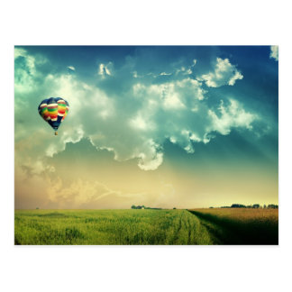 Customise Hot Air Balloon Postcard
