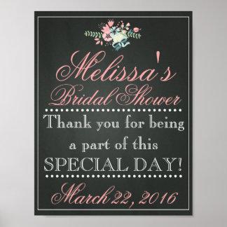 Customised Chalk Bridal Shower Sign, Bridal Poster