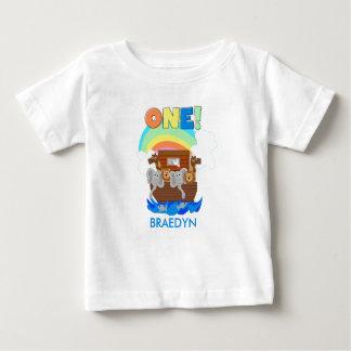 Customised Noah's Ark Baby 1st Birthday T-shirt