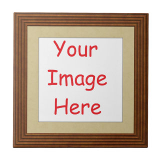 Customised personalised printed frame picture - tile