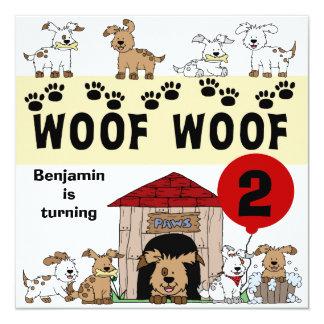 Customised Puppy Dog Birthday Invitations