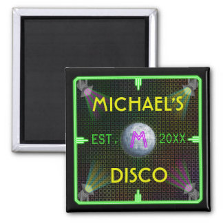 Customizable 1970's Disco Ball Refrigerator Magnets