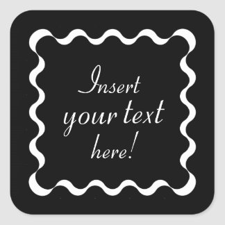 Customizable Abstract Ribbon Border Stickers