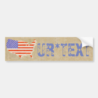 Customizable Americana Bumper Sticker