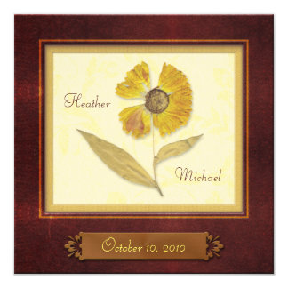 Customizable Autumn Rustic Save the Date Card 13 Cm X 13 Cm Square Invitation Card
