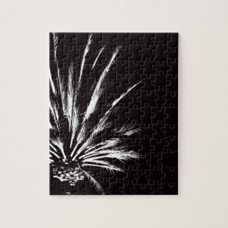 Customizable Black and White Palm Tree Jigsaw Puzzle