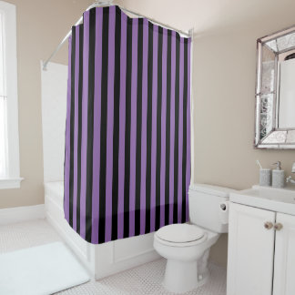 Customizable Black Stripes Shower Curtain