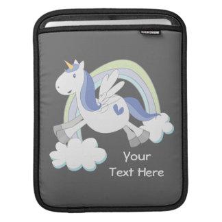 Customizable Blue Pegasus iPad Sleeve
