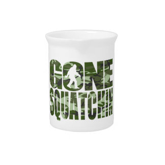 Customizable Camo Gone Squatchin Beverage Pitchers