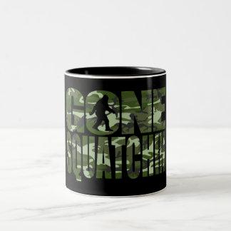 Customizable Camo Gone Squatchin Two-Tone Coffee Mug