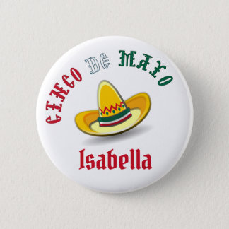 Customizable Cinco de Mayo May 5 Fiesta 6 Cm Round Badge