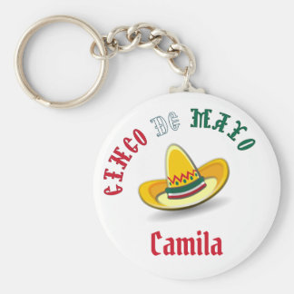 Customizable Cinco de Mayo May 5 Fiesta Key Ring