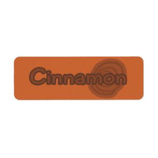 Customizable Cinnamon Bakery Labels