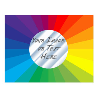 Customizable Circle Frame: Spectrum Collection Postcard
