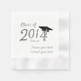 Customizable Class of 2014 Graduation Disposable Napkins